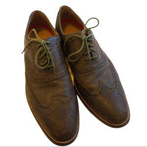 Cole Haan Men Size 10.5 M Gray Wingtip Shoes